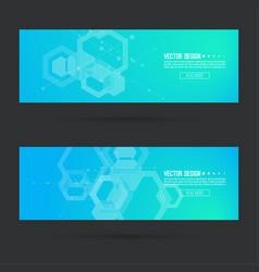 futuristic header vector image