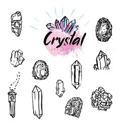 Geometric polygonal crystals vector image vector image