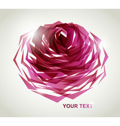geometric rose vector image vector image