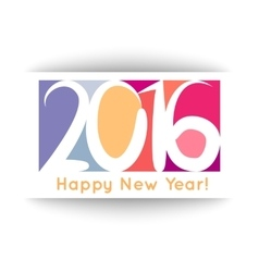 Happy New Year 2016 banner vector image