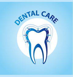 Health dent logo design cosmetic dental vector