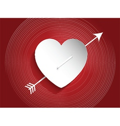 Heart design with arrow vector image