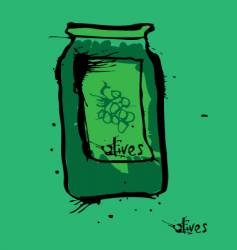 Olive jar vector