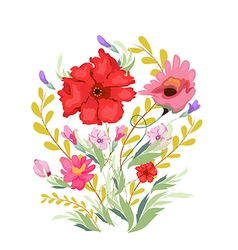 Paint Watercolor Flowers vector image vector image