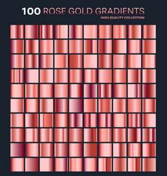 rose gold gradientpatterntemplateset of colors vector image