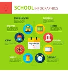 School concept infographics vector
