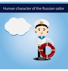 Set men european character sailor vector