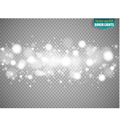 set of snow icicles isolated on transparent vector image