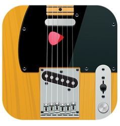 square guitar icon vector image vector image