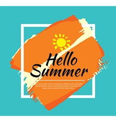 Summer banner brush painting design template vector image vector image