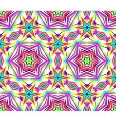 Thin kaleidoscope star flower pattern vector