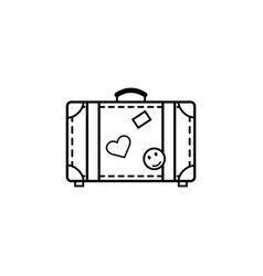 Travel bag line icon travel tourism vector