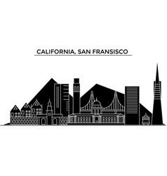 Usa california san francisco architecture vector