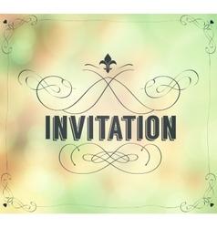 Vintage invitation frame vector image