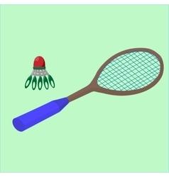 Play badminton on the beach sports vector