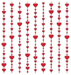 Seamless pattern with hanging heart garlands vector