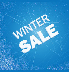 Winter ice sale set snow cold sale banner vector