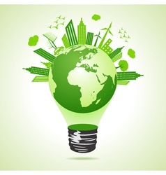 Ecology concept with bulb vector