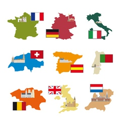 Flags and countries vector