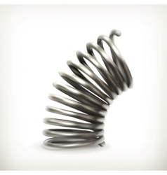 Elastic metal spring vector