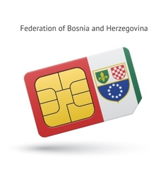 Federation of bosnia and herzegovina phone sim vector