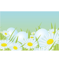 easter white eggs vector image