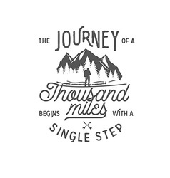 Wilderness quote typographic emblem vector