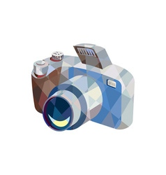 Camera dslr low polygon vector