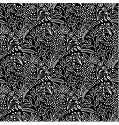 White floral scales seamless pattern vector