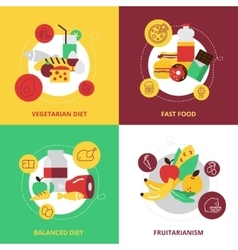 Food and drinks design icons set vector