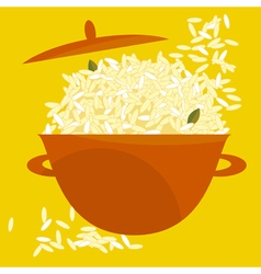 Rice pot vector
