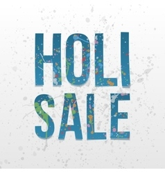 Holi sale paper words festival of color vector