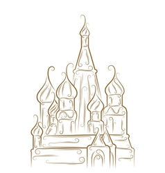 Saint basils cathedral vector