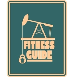 Fitness guide text gym and fitness relative image vector