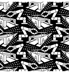 Abstract constructionism seamless pattern vector