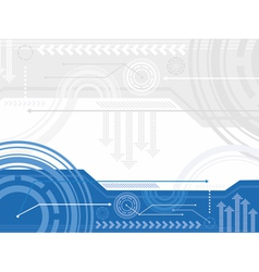 Technology inspired background vector