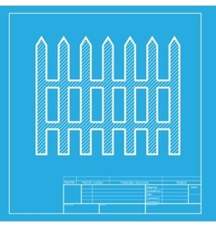 Fence simple sign white section of icon on vector