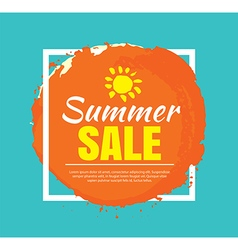 Summer banner brush painting design template vector