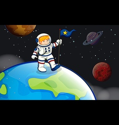 A man in the outerspace vector