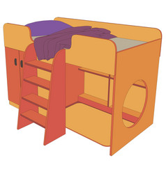 bed kids icon design isolated furniture bedroom vector image vector image