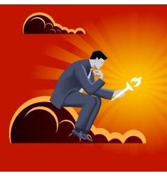 Burden of leadership business concept vector