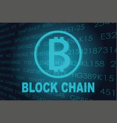 Business block chain vector