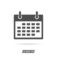 Calendar icon black and white color vector
