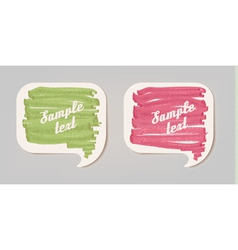 Colorful sticker speech bubbles vector image