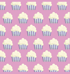 cupcakes background design vector image vector image