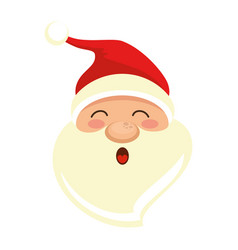 cute santa claus head character vector image