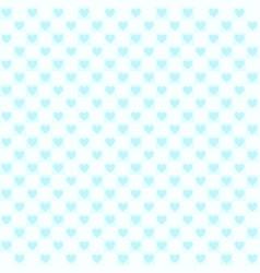 Cyan checkered heart pattern seamless background vector