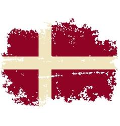 Danish grunge flag vector image