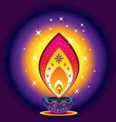 Diwali candle light vector image