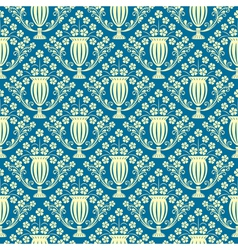 Elegant seamless wallpaper vector image vector image